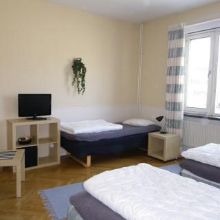Bosses gästvåningar har stora och trevligt möblerade rum.